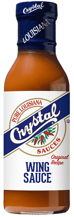 Crystal Hot Sauce Products Crystal Wing Sauce 12oz Bottle